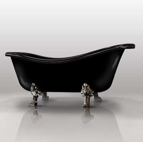 Cada baie retro Epoca Negru 170
